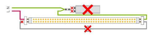 como instalar tubo led t8 con dos conexiones