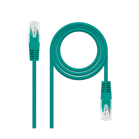 Imagen Cable de Red Nanocable Latiguillo RJ45 CAT.6 Verde 3m - 10.20.0403-GR