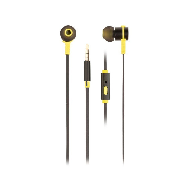 Imagen Auriculares Intrauditivos NGS Cross Rally Jack 3.5 mm 1.2 m Amarillo/Negro - CROSSRALLYBLACK