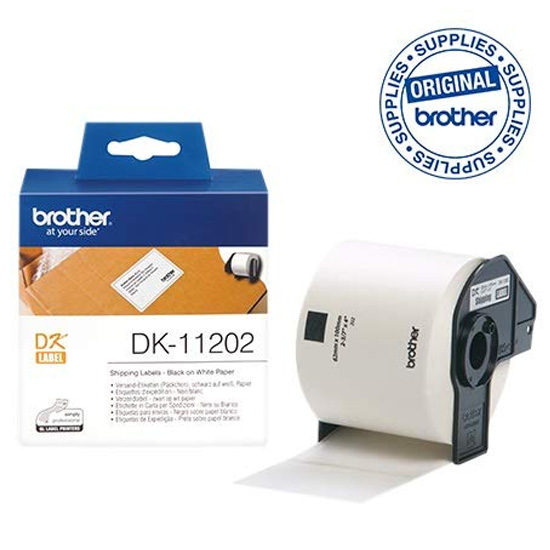 Imagen Brother - Papel etiquetas precortada blanco 62x100mm 300 etiq. - DK11202