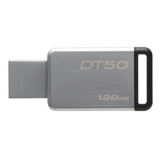 Imagen Prendrive Kingston data Traveler DT50 128GB USB 3.1 Gris/negro - DT50/128GB