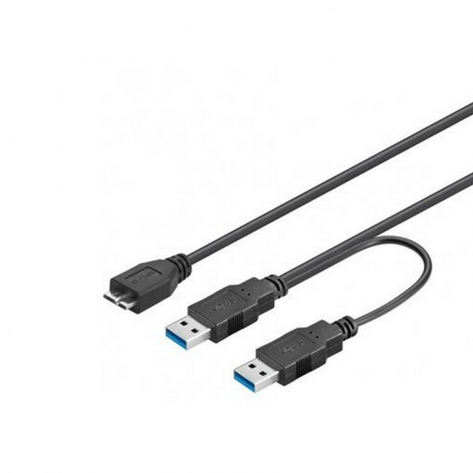 Imagen Cable Doble USB 3.0 a Micro USB 3.0 1.8 Mts